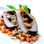 Ham, Mozzarella and Caramelized Onion-stuffed Chicken