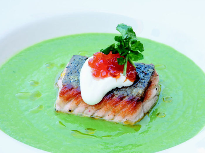 Watercress and Summer Leek Soup by Chef Craig