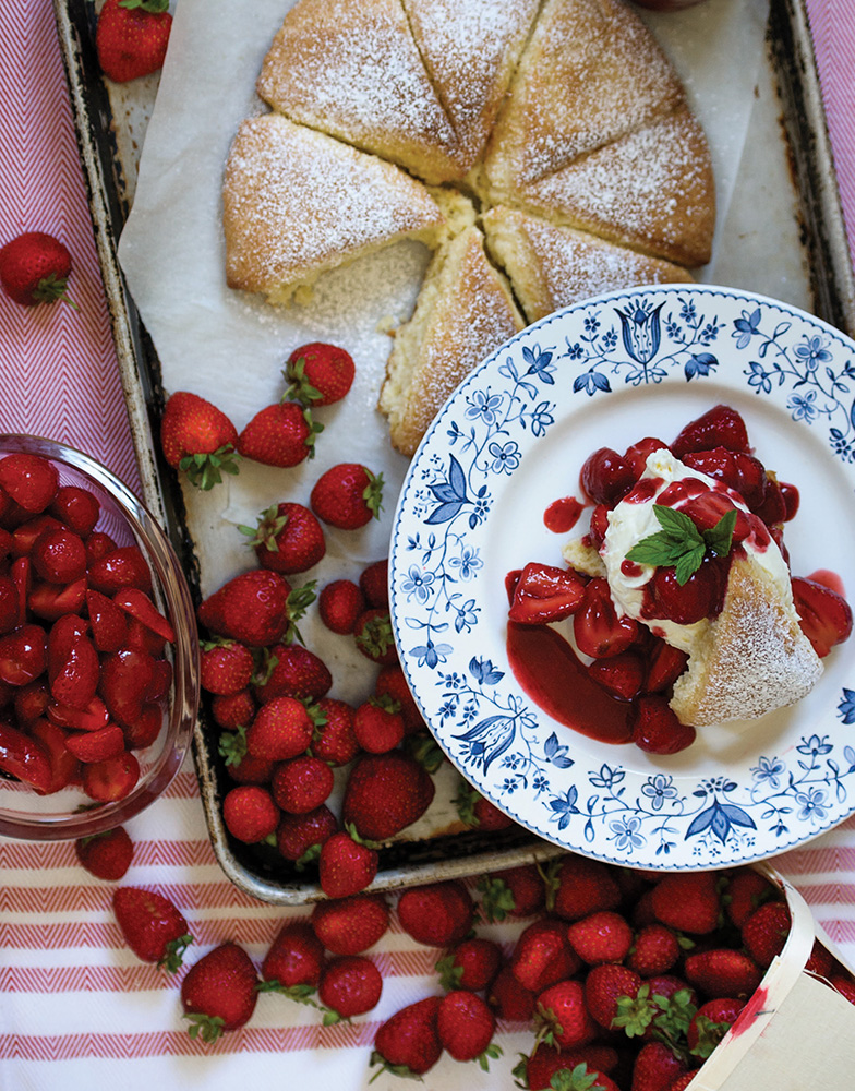 Strawberry Shortcake with cream scones